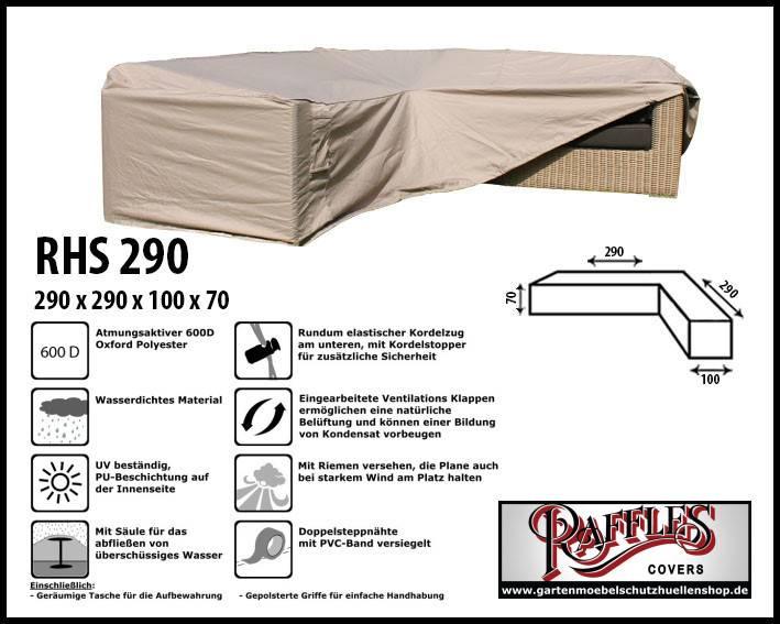 Schutzhülle Lounge L Form 290 X 290 Cm