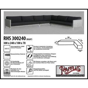 Raffles Covers Lounge Sofa Abdeckschutz L-Form 300 x 240 x 100 H: 70 cm
