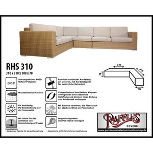 Raffles Covers Abdeckhaube für L-Förmiges Sofa 310 x 310 x 100 H: 70 cm