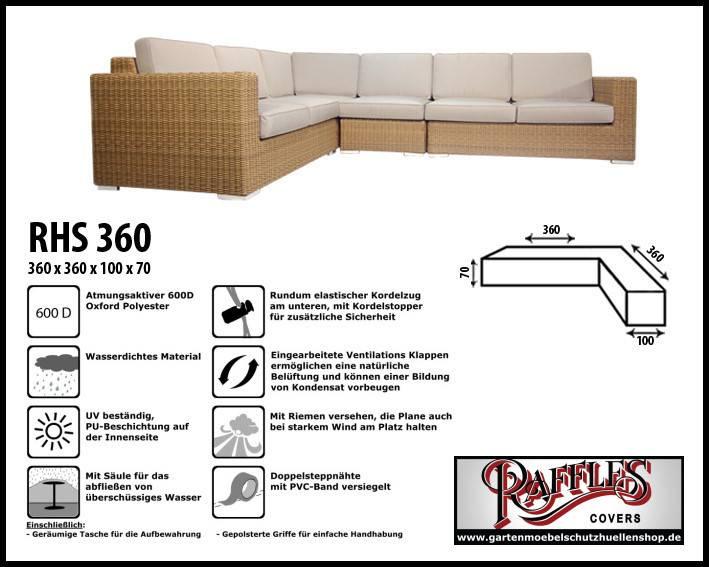 Schutzhülle Für Lounge L Form 360 X 360 Cm