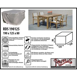 Raffles Covers Gartenmöbel Abdeckung Rechteckig 190 x 125 H: 80 cm