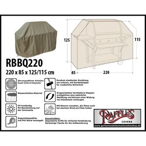 Raffles Covers Abdeckhaube für Gasgrill 220 x 85 H: 125/115 cm