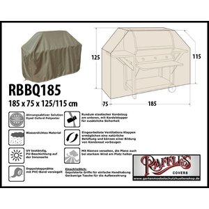 Raffles Covers BBQ Schutzhaube Grill 185 x 75 H: 125/115 cm