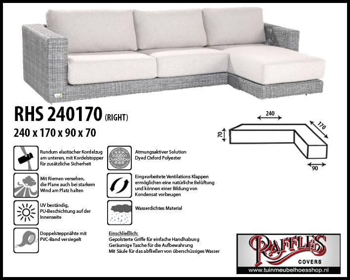 Schutzhülle Lounge Sofa L Form 240 X 170 Cm