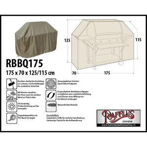 Raffles Covers Gasgrill-Abdeckung 175 x 70 H: 125/115 cm
