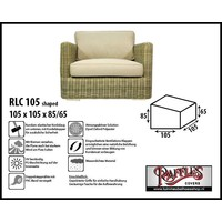 Raffles Covers Schutzhülle für Lounge Sessel 105 x 105 H: 85/65 cm