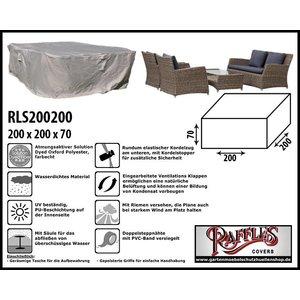 Raffles Covers Schutzhaube für Rattan Lounge Sitzgruppe 200 x 200 H: 70 cm