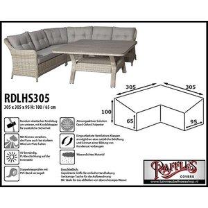 Raffles Covers Adeckhaube für Gartenmöbel Ecksofas 305 x 305 x 95 H: 100/65 cm