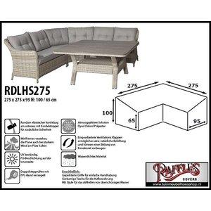 Raffles Covers Wetterhaube für L-Form Dining Sofas 275 x 275 x 95 H: 100/65 cm