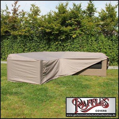 Raffles Covers Schutzhülle für L-Förmiges Gartensofa 220 x 220 x 90 H: 70 cm