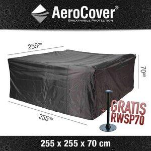 AeroCover Wetterhaube Schutz für Lounge Gartenmöbel 255 x 255 H: 70 cm