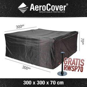 AeroCover Abdeckplane für Rattan Lounge Sitzgruppe 300 x 300 H: 70 cm