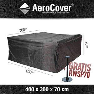 AeroCover Abdeckplane Schutz für Garten-Lounge Garnitur 400 x 300 H: 70 cm