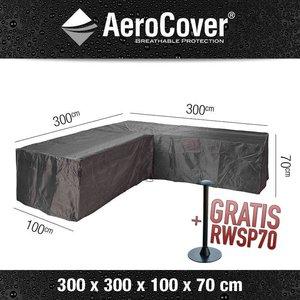 AeroCover Adeckhaube für Gartenmöbel Ecksofa 300 x 300 H: 70 cm