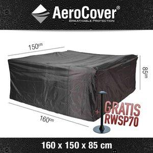 AeroCover Wetterhaube Schutz für rechteckigen Tisch mit Stühle 160 x 150 H: 85 cm