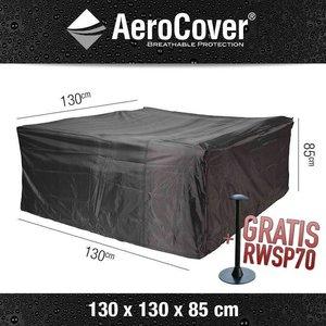AeroCover Abdeckhaube für quadratischen Tisch mit Stühle 130 x 130 cm
