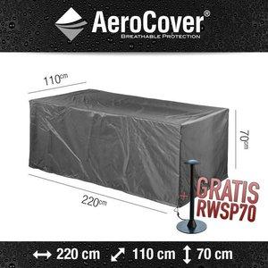 AeroCover Wetterhaube für rechteckigen Gartentisch 220 x 110 H: 70 cm