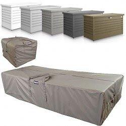 Aufbewahrungstaschen, Rollkoffer und Kissentruhen in verschiedenen Größen