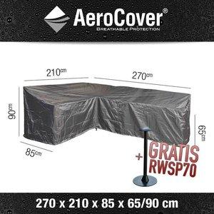 AeroCover Abdeckhaube für L-förmige Loungesets mit hoher Rückenlehne 270 x 210 H: 90/65 cm