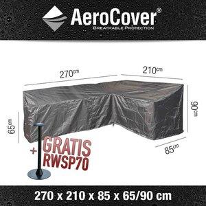 AeroCover L-förmige Abdeckung für Loungesets 270 x 210 H: 90/65 cm