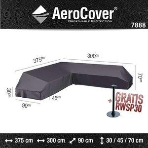 AeroCover Platform Gartensofa Schutzhülle 375 x 300 x 90 H: 30/45/70 cm