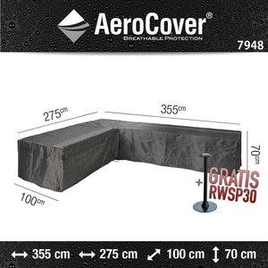 AeroCover Schutzhülle L Form Loungeset 355 x 275 x 100 H: 70 cm