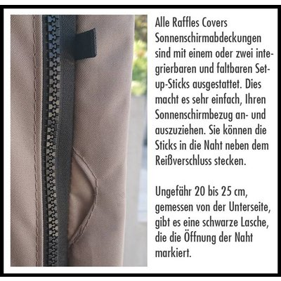 Raffles Covers Schirmhülle Ampelschirm H: 255 cm
