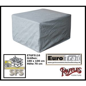 EuroTrail Schutzhülle für Rattan Lounge Sessel 100 x 100 H: 70 cm