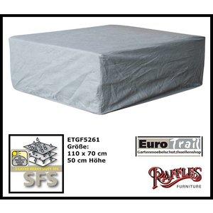 EuroTrail Schutzhülle für Geflecht Lounge Tisch 110 x 70 H: 50 cm