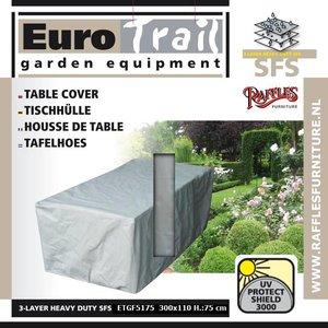EuroTrail Gartenmöbel Schutzhülle für rechteckige Gartentisch 300 x 110 H: 75 cm