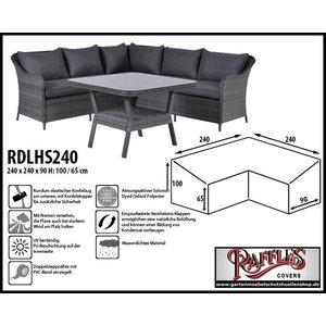 Raffles Covers Gartenmöbel Schutzhülle L-Form 240 x 240 H: 100/65 cm