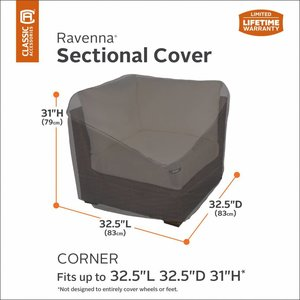 Ravenna, Classic Accessories Abdeckung Ecke Lounge-Element 83 x 83 H: 79 cm