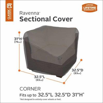 Ravenna, Classic Accessories Abdeckung Ecke Lounge-Element 83 x 83 H: 79 cm