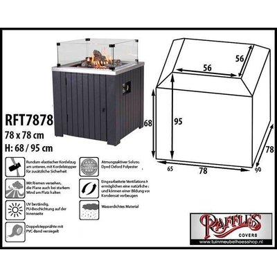 Raffles Covers Schutzabdeckung Feuertisch 78 x 78 H: 68/95 cm