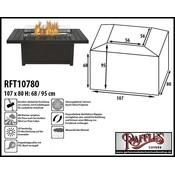 Raffles Covers Abdeckung für Feuertisch 107 x 80 H: 68/95 cm