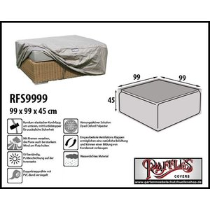 Raffles Covers Hocker-Abdeckhaube 99 x 99 H: 45 cm