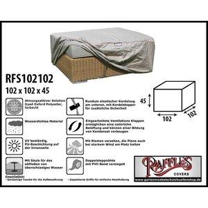 Raffles Covers RFS102102, 102 x 102 H: 45 cm, taupe