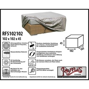 Raffles Covers Schutzhülle für Geflecht Lounge Tisch 102 x 102 H: 45 cm