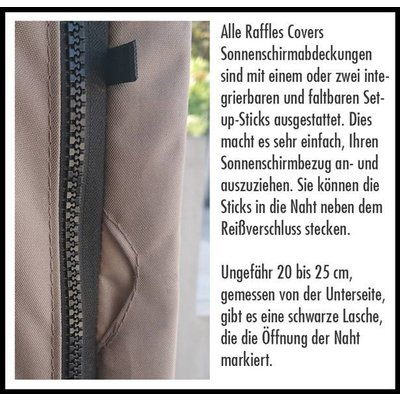 Raffles Covers Abdeckung für einen hängenden Sonnenschirm H: 200 cm