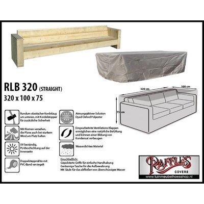 Raffles Covers Lounge Bank Gartenmöbel Abdeckung 320 x 100 H: 75 cm
