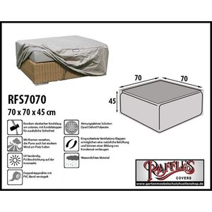 Raffles Covers Hocker Abdeckung 70 x 70 H: 45 cm