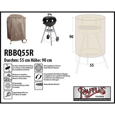 Raffles Covers Runde Grillabdeckung Ø 55 H: 90 cm