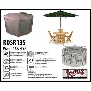 Raffles Covers Wetterhaube für runder Tisch mit 4 Gartenstühle Ø 135 H: 85 cm