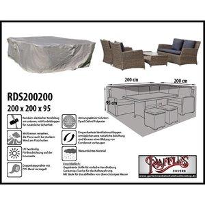 Raffles Covers Schutzhülle für Geflecht Lounge-Möbelset 200 x 200 H: 95 cm