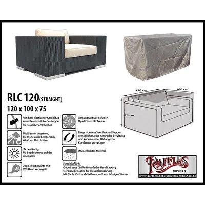 Raffles Covers Abdeckplane für Lounge Stuhl 120 x 100 H: 75 cm