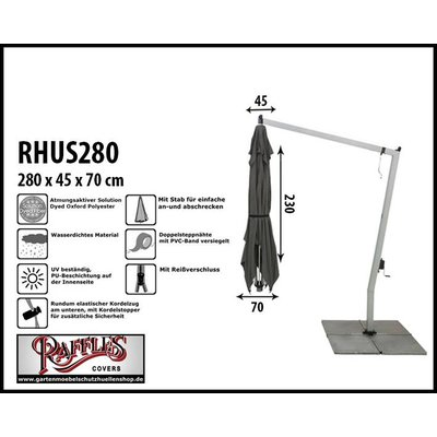 Raffles Covers Abdeckung für einen hängenden Sonnenschirm H: 280 cm