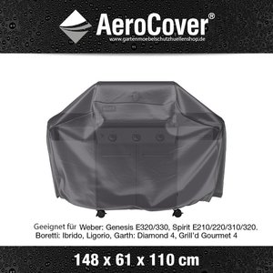 AeroCover BBQ Grill Abdeckhaube Universal large 148 x 61 H: 110 cm