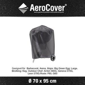 AeroCover Kessel BBQ Hülle, Kugelgrill Abdeckung rund 70 cm, H: 95 cm