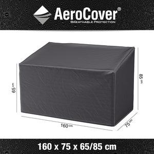 AeroCover Hochwertige Schutzhülle für Gartenbänke 160 x 75 H: 85/65 cm