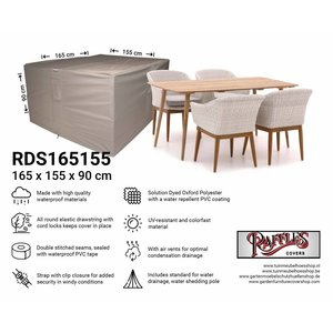 Raffles Covers Abdeckplane für Garten-Tisch und Stühle 165 x 155 H: 90 cm